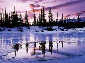 На водоёме зимой